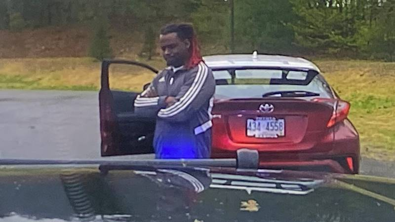 Obadiah Jacobs detained by police in Chester, Vt.