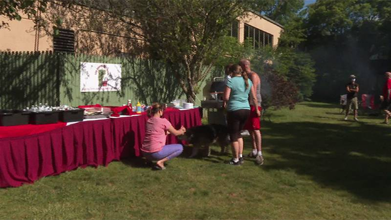 A cookout at the Rutland Holiday Inn Wednesday was organized by homeless advocacy groups.