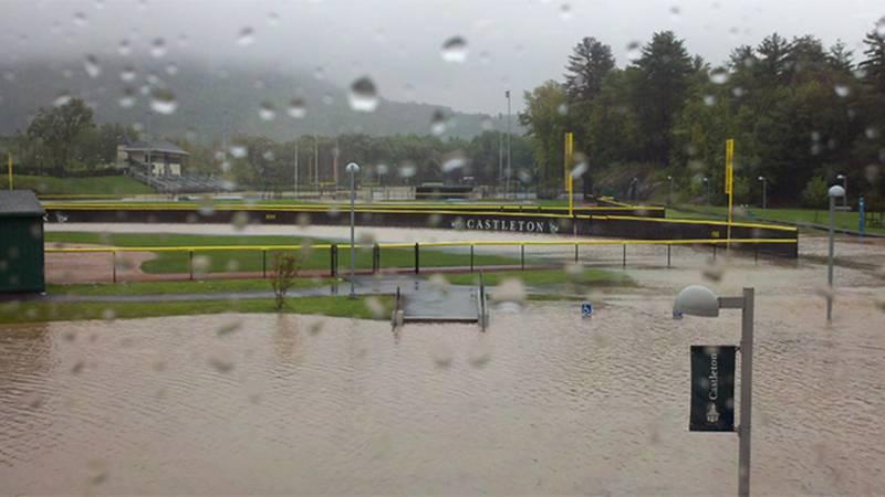 Castleton University during Irene.