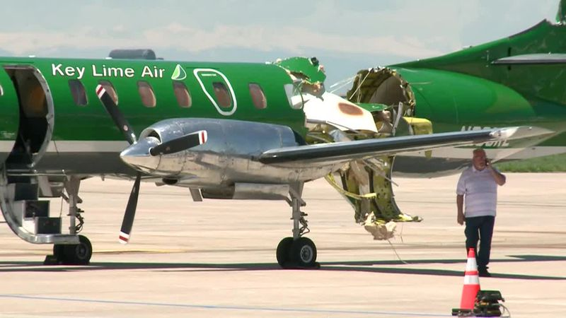 One aircraft was nearly ripped in half, and the pilot of the other was forced to deploy a...