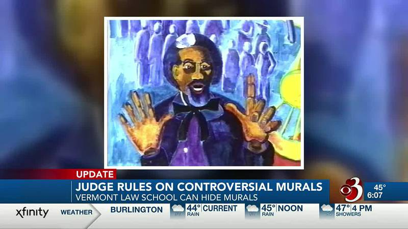 A federal judge has ruled that Vermont Law School can conceal two large murals that some...