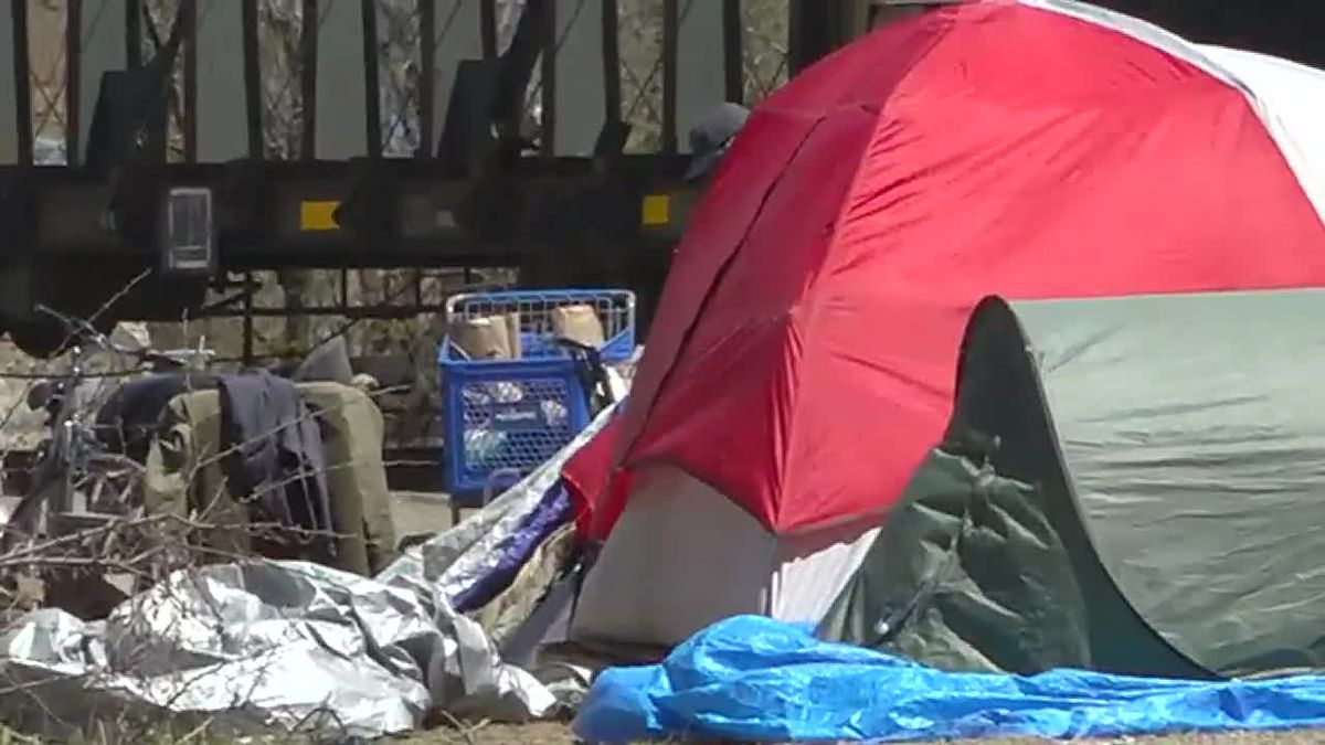 FILE photo of homeless tent