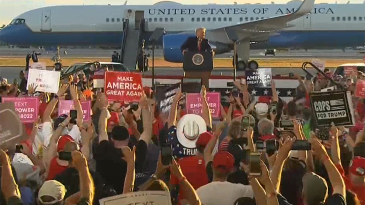 President Trump spoke at a rally in New Hampshire on Friday.