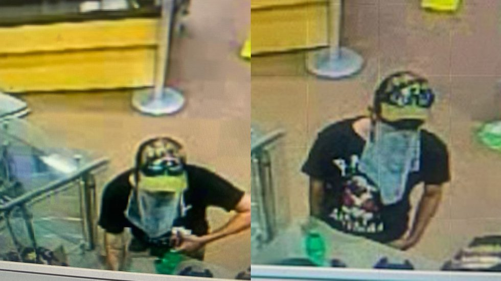 Surveillance photos from a robbery at the Cumberland Farms in Wallingford.