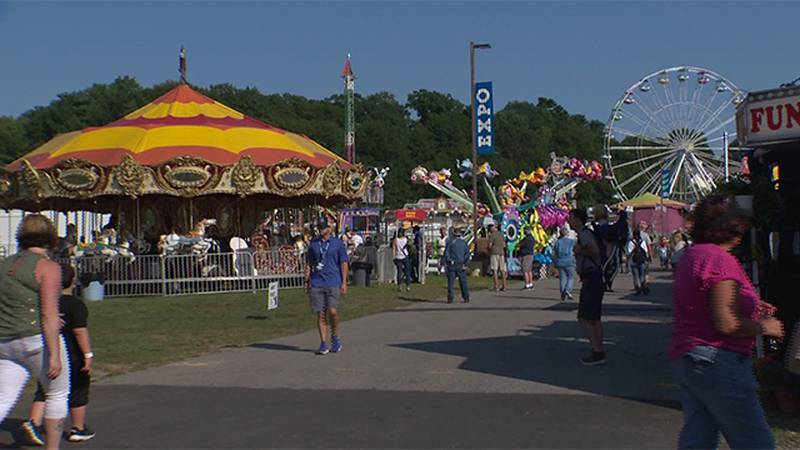 The Champlain Valley Fair getting underway in Essex Junction Friday afternoon.