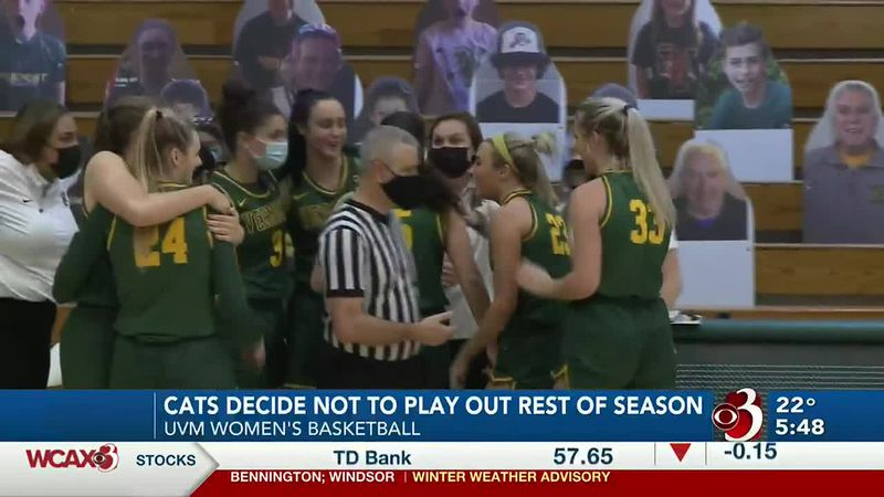 The Vermont women's basketball program will not play the remainder of their 2020-21 campaign.