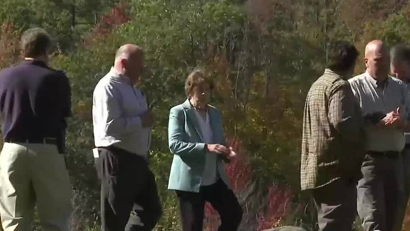 On a stop in New Hampshire, Senator Jeanne Shaheen pushed climate measures in the $3.5 trillion...