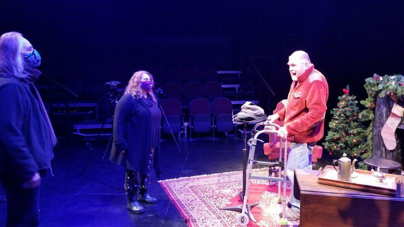 "Willem Lange prepares for Friday's ""A Christmas Carol"" reading livestream."