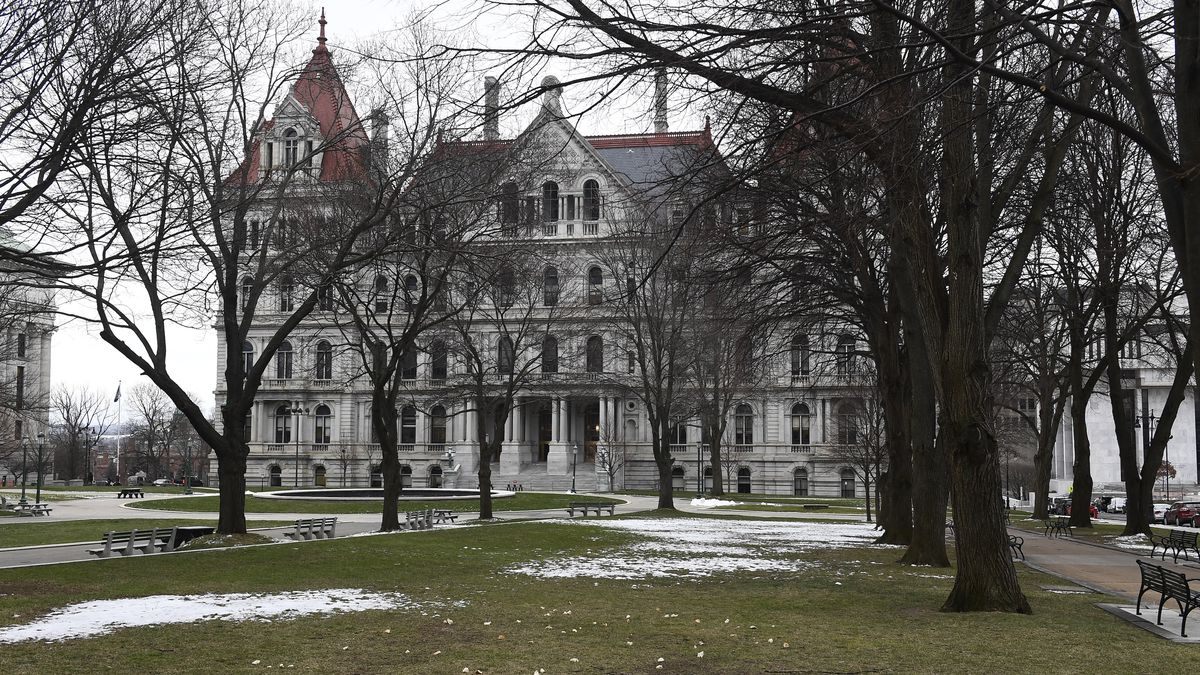 View of the New York state Capitol in Albany, N.Y.