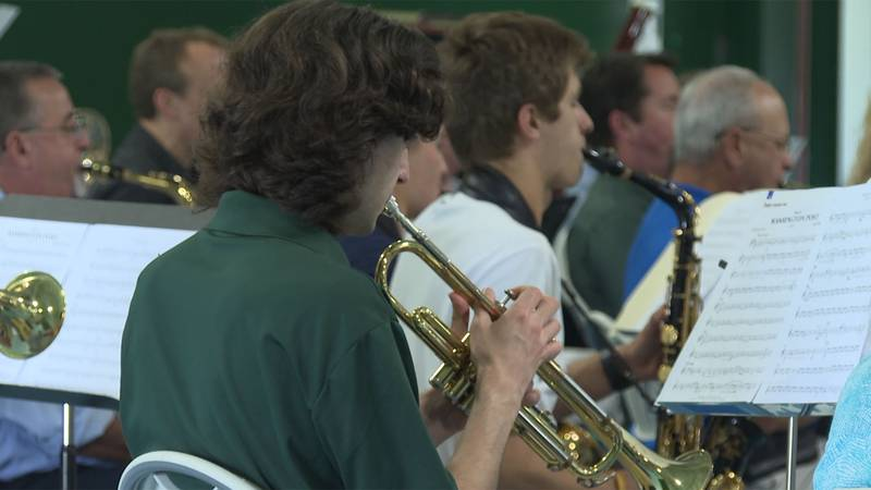 The BFA-St. Albans community gathered Thursday to give a beloved former band director a musical...
