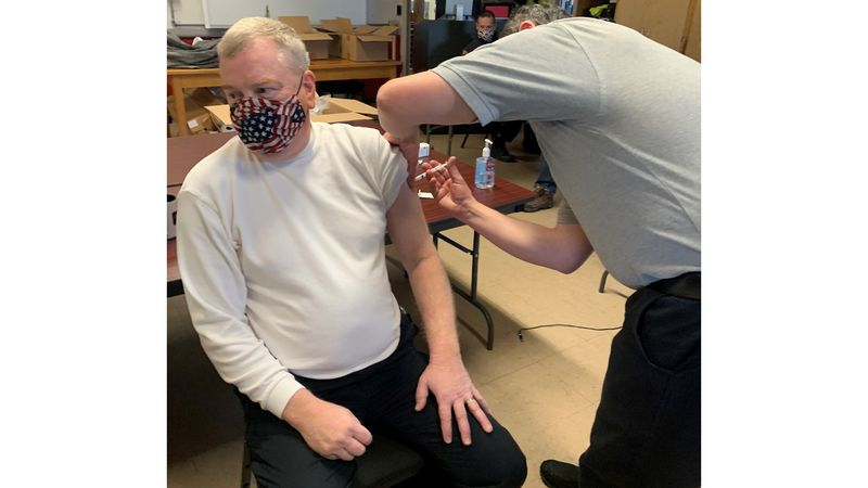 First responders in New Hampshire started getting COVID vaccinations on Tuesday.