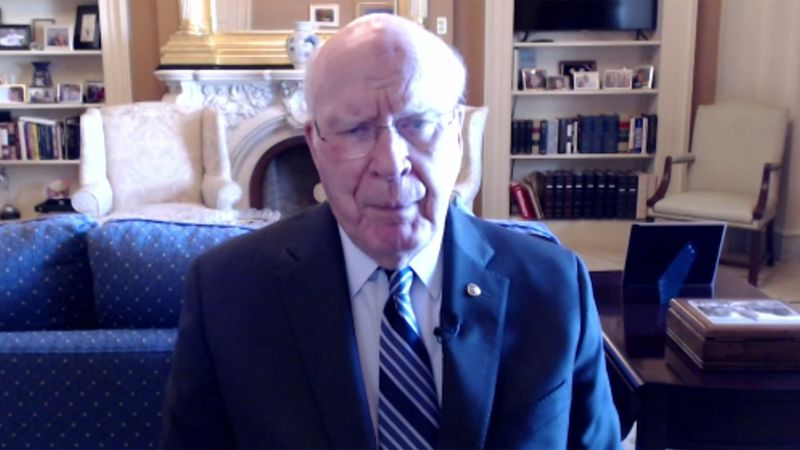 Sen. Patrick Leahy described what he saw on Wednesday when rioters breached the Capitol building.