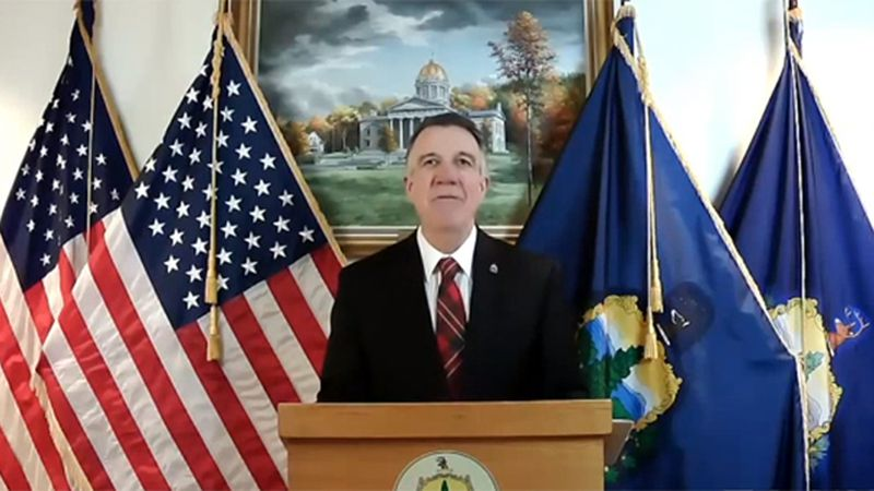 Gov. Phil Scott delivering virtual budget address Tuesday.